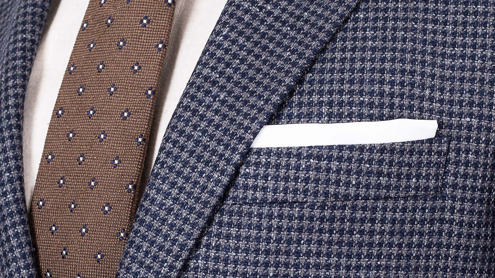 Navy & Grey Wool-Silk Sport Coat - slider image 1