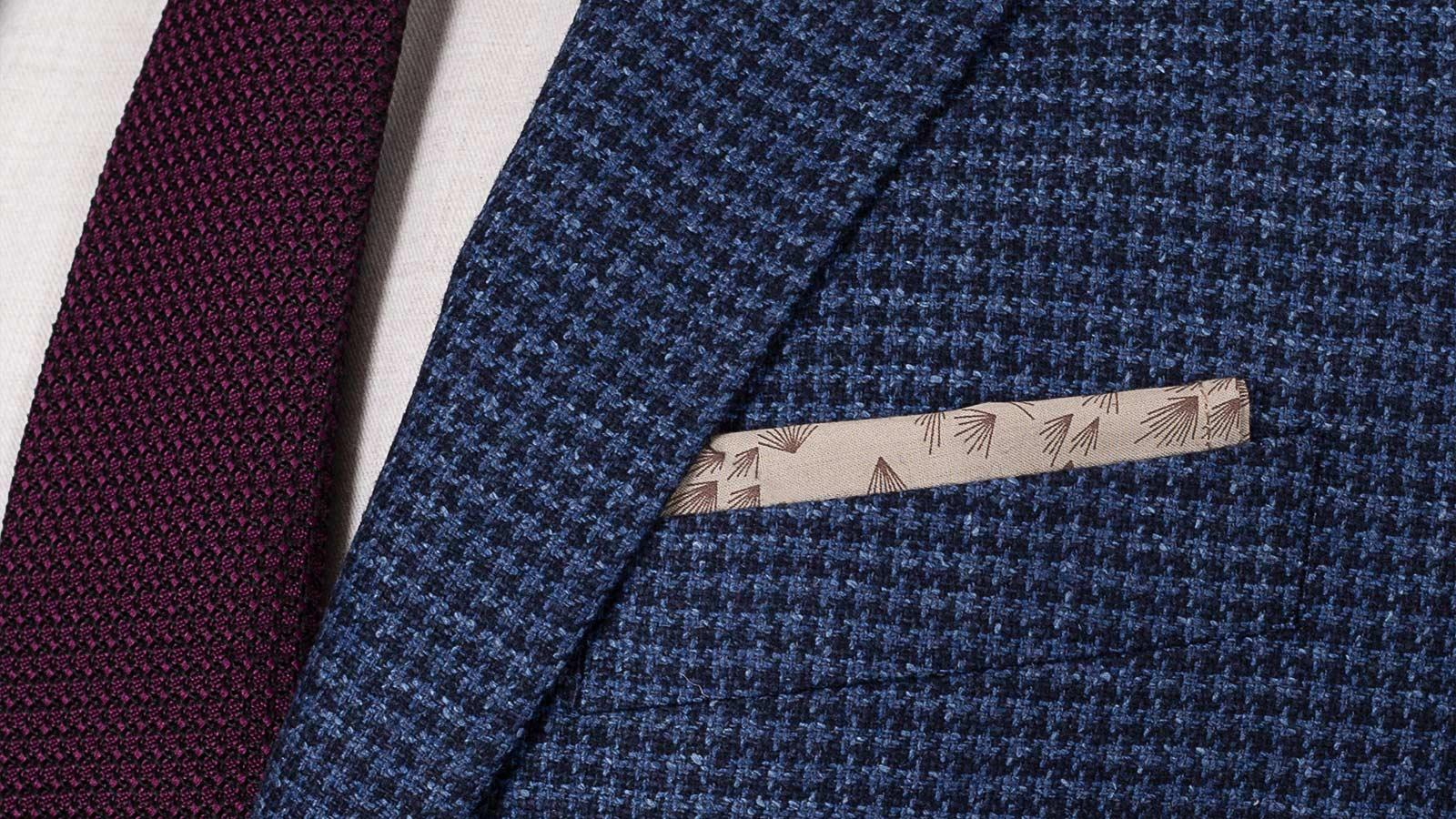 Navy Wool-Silk Sport Coat - slider image 1
