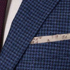 Navy Wool-Silk Sport Coat - thumbnail image 1