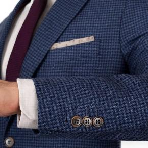 Navy Wool-Silk Sport Coat - thumbnail image 2