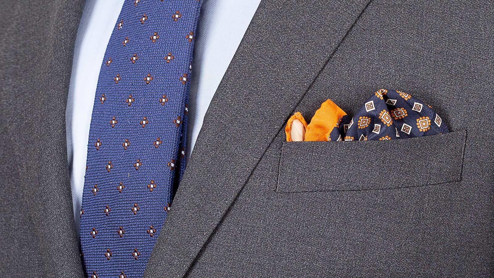 Grey Hopsack Natural Stretch Suit - slider image 1