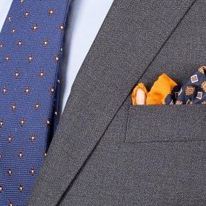 Grey Hopsack Natural Stretch Suit - thumbnail image 1