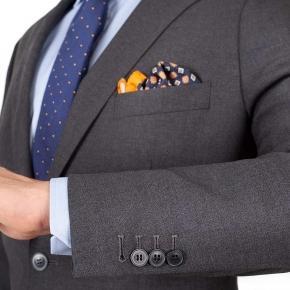 Grey Hopsack Natural Stretch Suit - thumbnail image 2