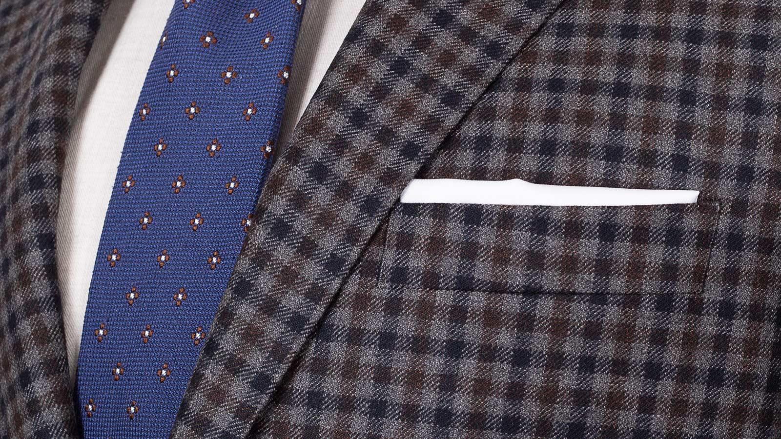 Grey Guncheck Wool & Cashmere Suit - slider image 1