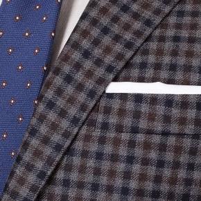 Grey Guncheck Wool & Cashmere Suit - thumbnail image 1