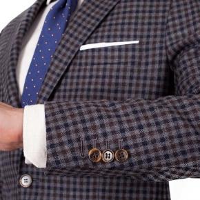 Grey Guncheck Wool & Cashmere Suit - thumbnail image 2