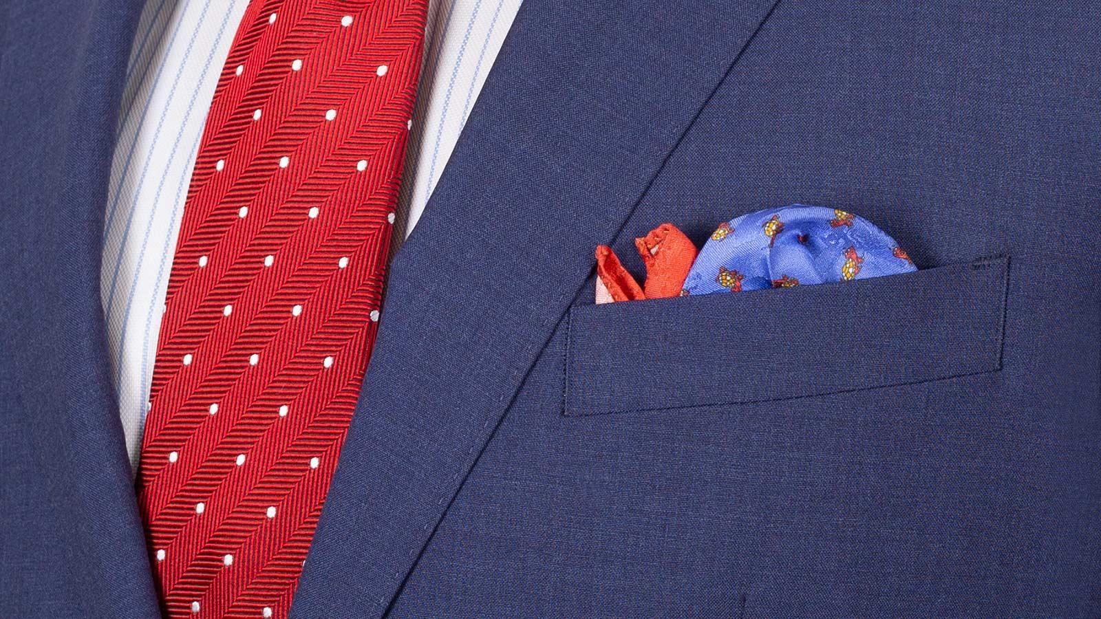Tropical Rustic Blue Suit - slider image 1