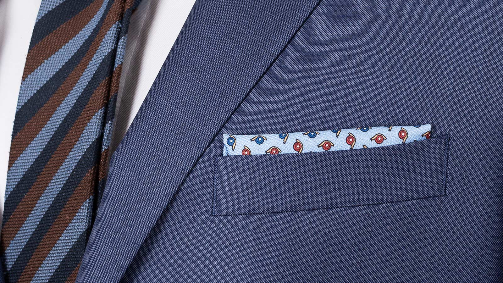 Suit in Sky Blue Pick & Pick Wool - slider image 1