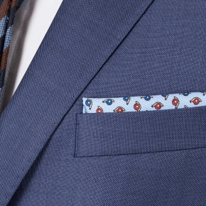 Suit in Sky Blue Pick & Pick Wool - thumbnail image 1