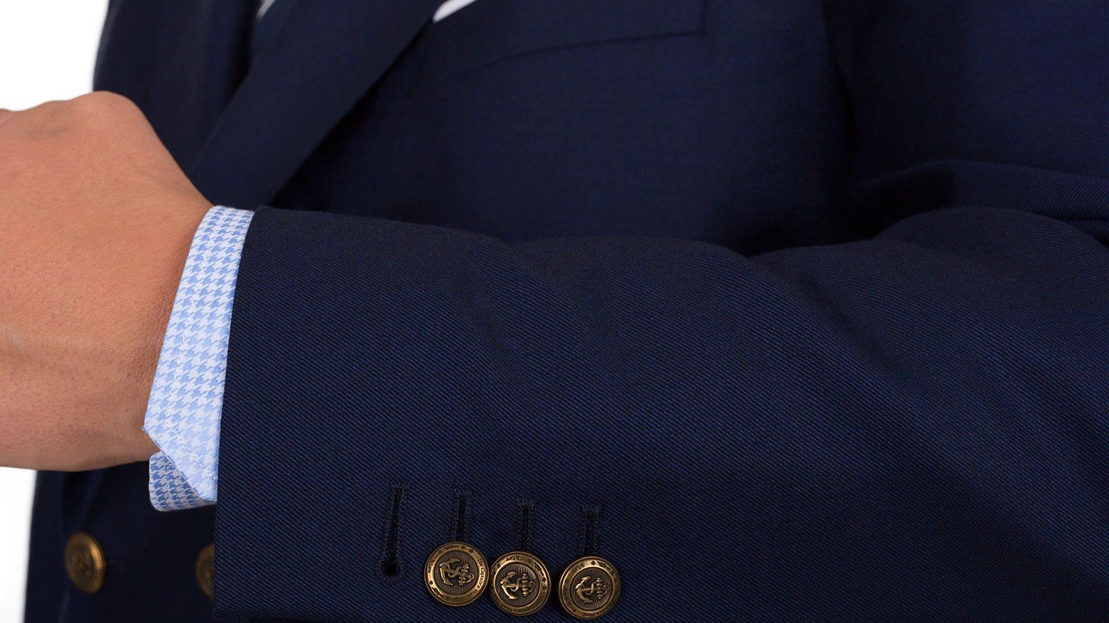 11 oz Navy Serge Blazer with Brass Buttons - slider image