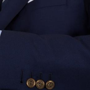 11 oz Navy Serge Blazer with Brass Buttons - thumbnail image 1