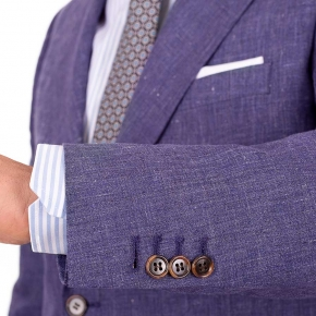 Denim Blue Linen Suit - thumbnail image 2