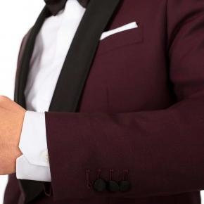 Burgundy Wool & Mohair Dinner Suit - thumbnail image 2