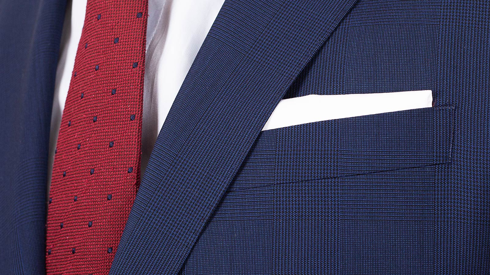 Navy Shadow Plaid Suit - slider image 1