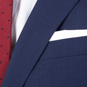 Navy Shadow Plaid Suit - thumbnail image 1