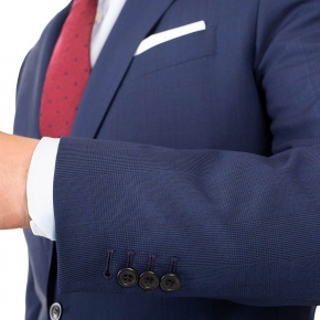 Navy Shadow Plaid Suit - thumbnail image 2