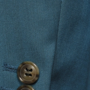 Teal Blue Wool & Silk Suit - thumbnail image 2