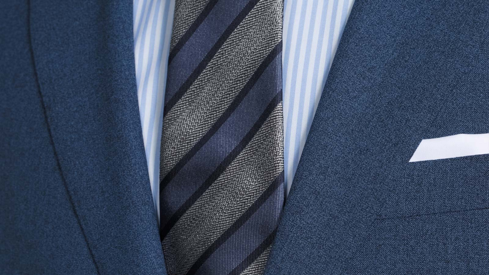 Blue Natural Stretch Suit - slider image 1