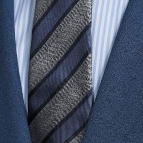 Blue Natural Stretch Suit - thumbnail image 1