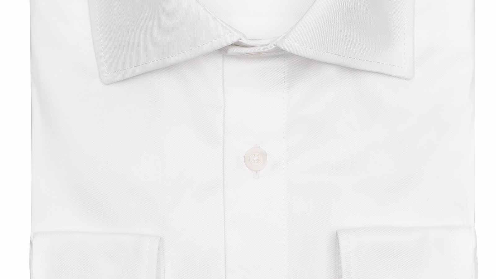 White Non-iron Cotton Twill Shirt - slider image