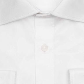 White Non-iron Cotton Twill Shirt - thumbnail image 1