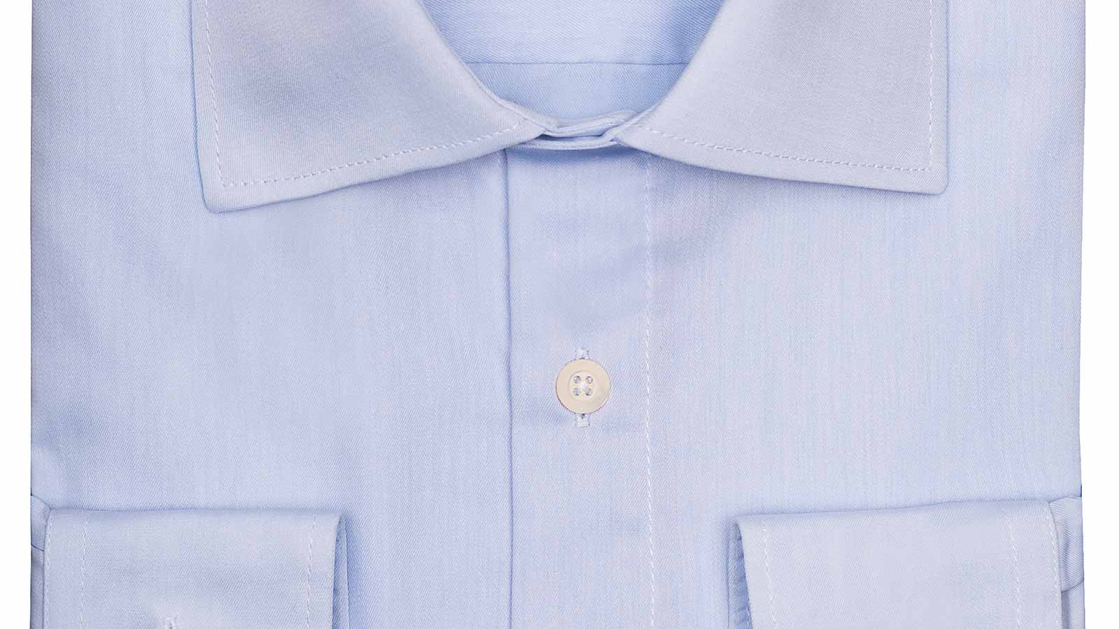 Light Blue Non-iron Cotton Twill Shirt - slider image 1