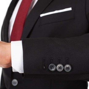Solid Black Suit - thumbnail image 3