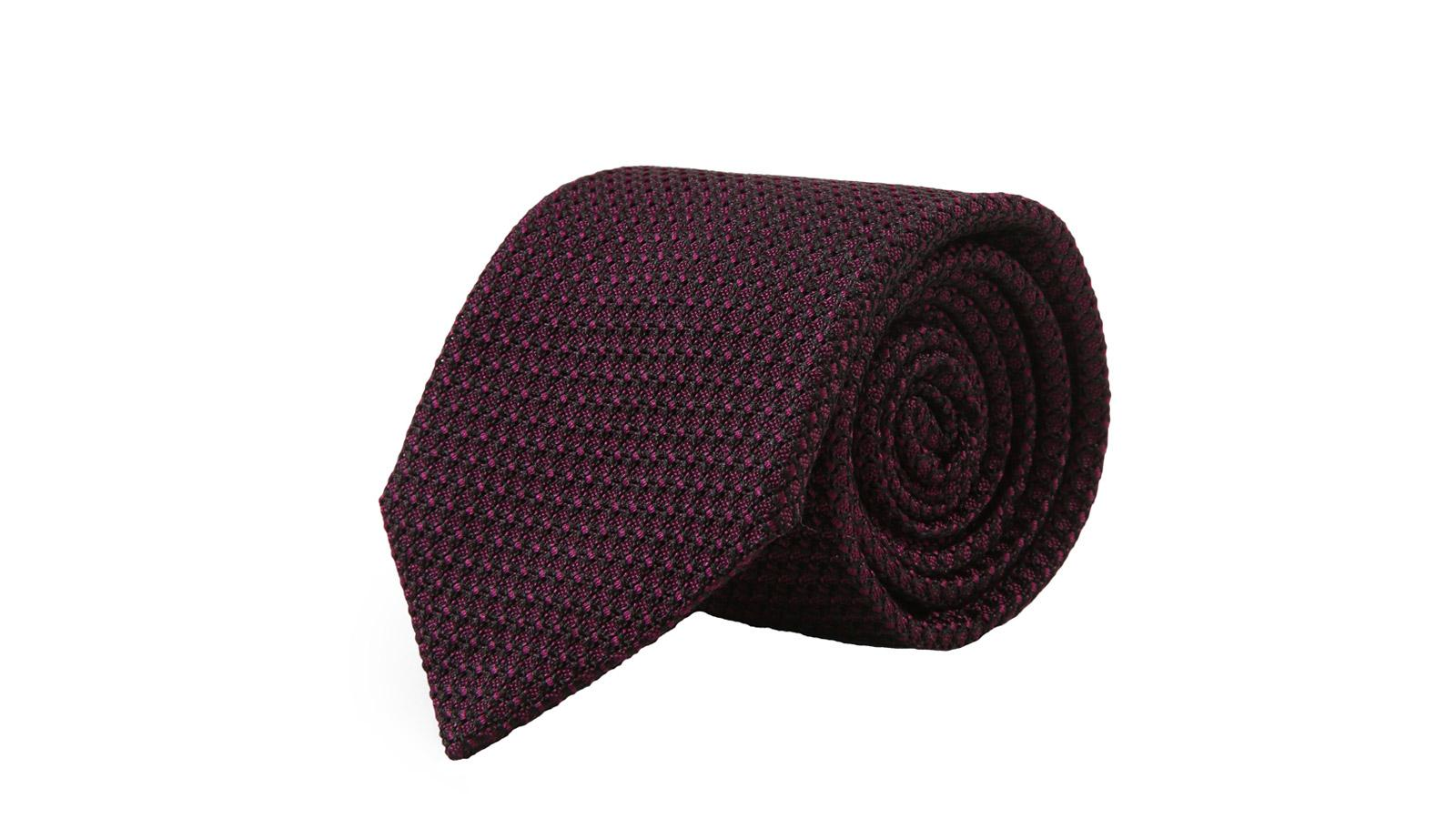 Purple 100% Grenadine Silk Tie - slider image