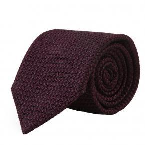 Purple 100% Grenadine Silk Tie - thumbnail image 1