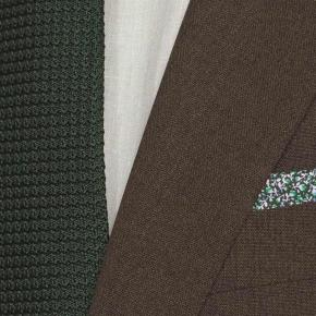 Brown Natural Stretch Suit - thumbnail image 1