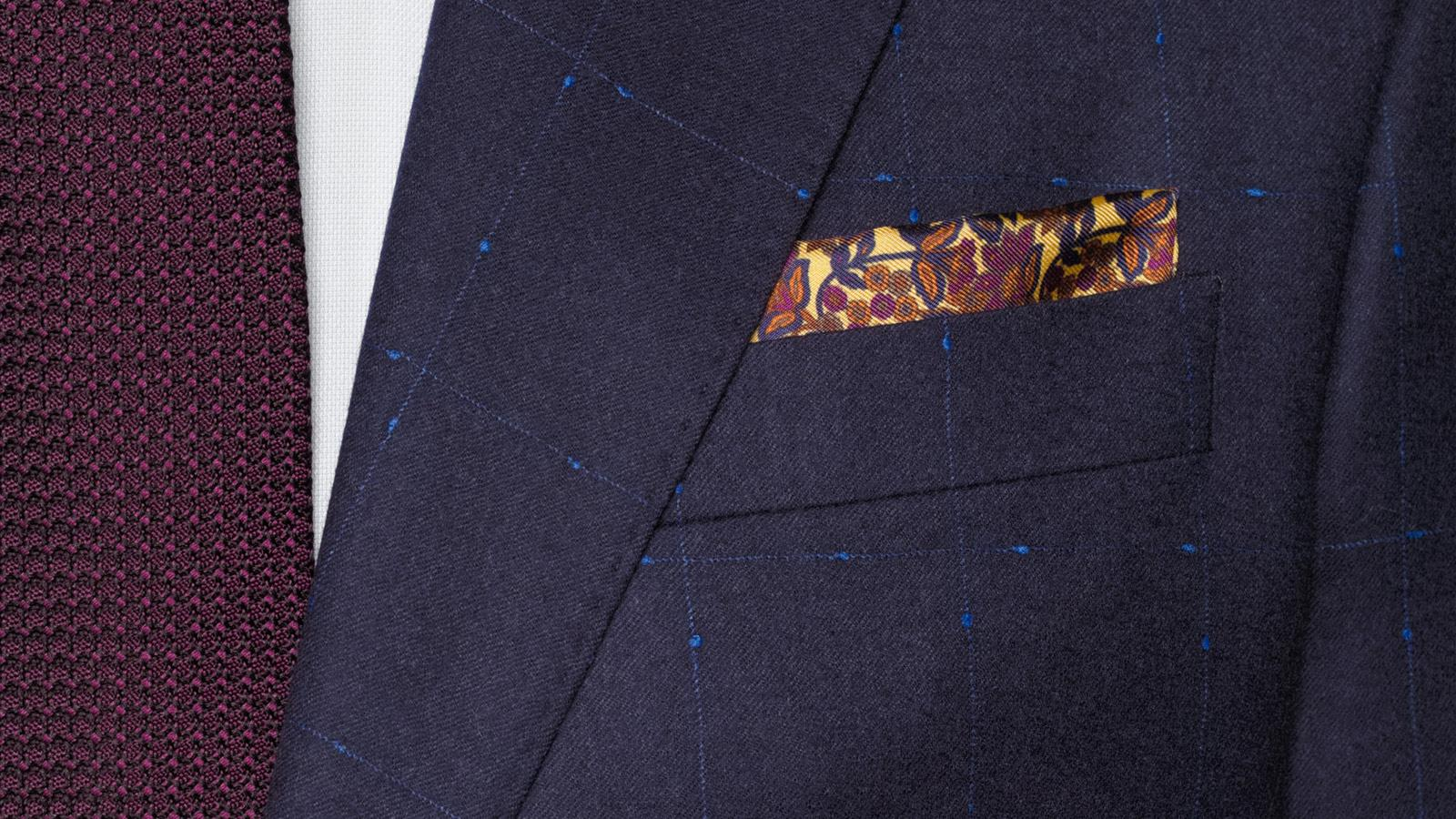 Blue Shadow Check Suit - slider image 1