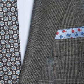 Blue Check Warm Grey Plaid Suit - thumbnail image 1