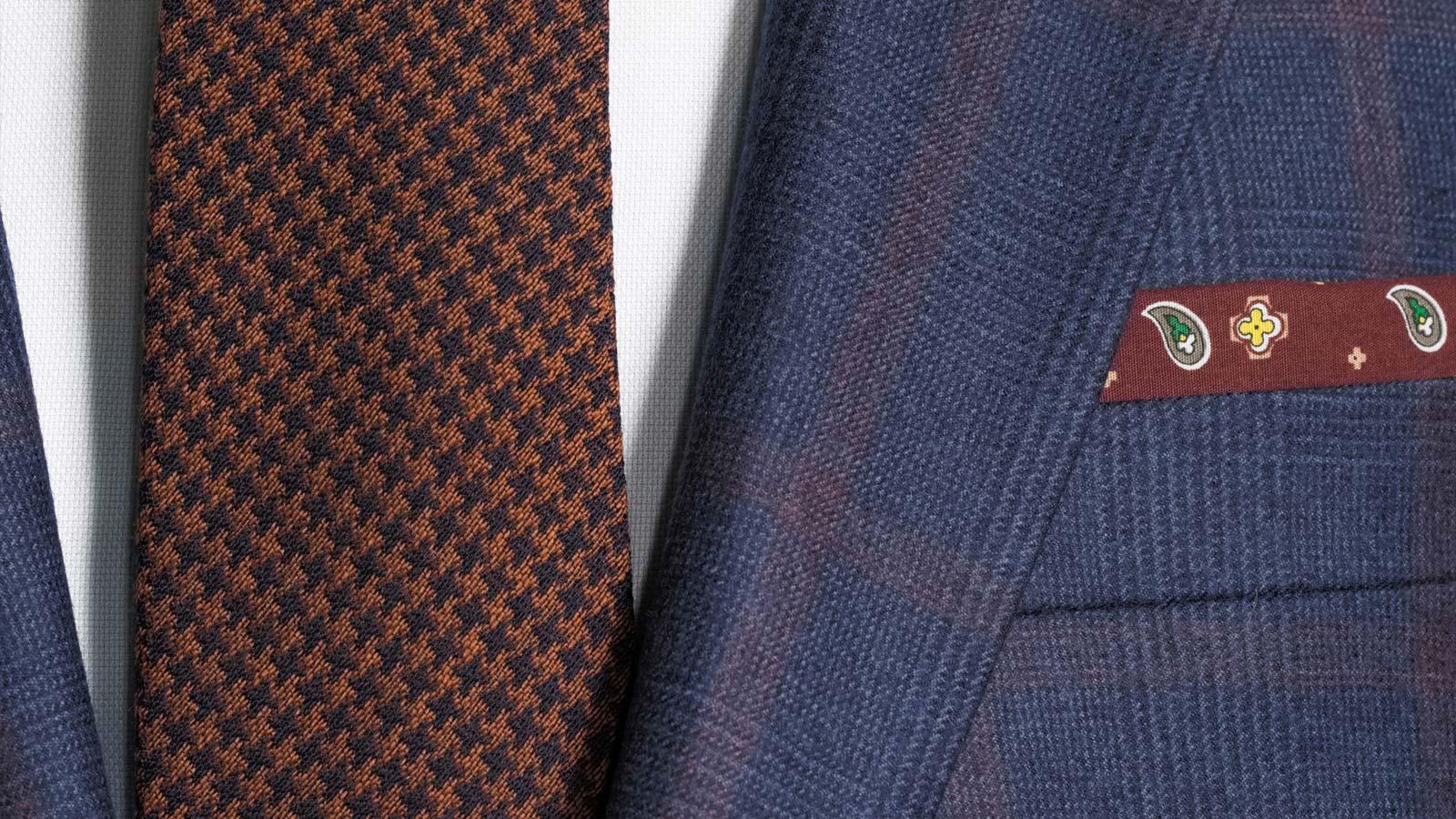 Tangerine Check Navy Plaid Suit - slider image 1
