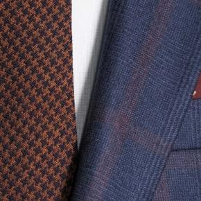 Tangerine Check Navy Plaid Suit - thumbnail image 1