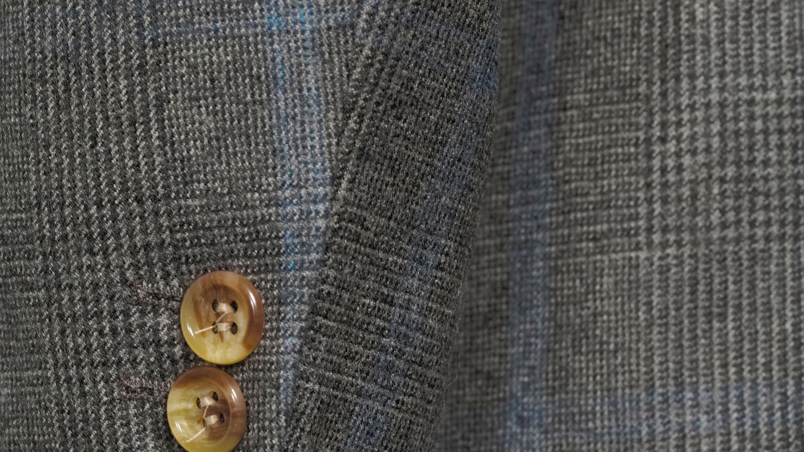 Blue Check Warm Grey Plaid Blazer - slider image