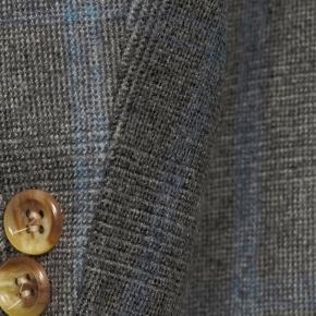 Blue Check Warm Grey Plaid Blazer - thumbnail image 1