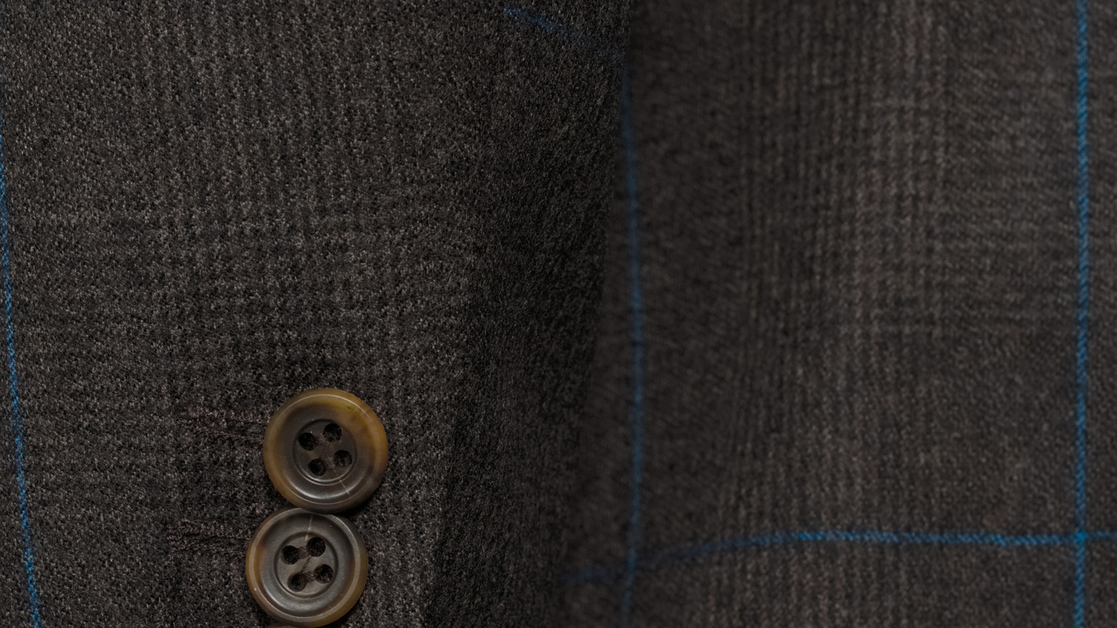 Brown Plaid With Blue Overcheck Blazer - slider image