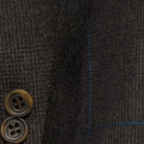 Brown Plaid With Blue Overcheck Blazer - thumbnail image 1