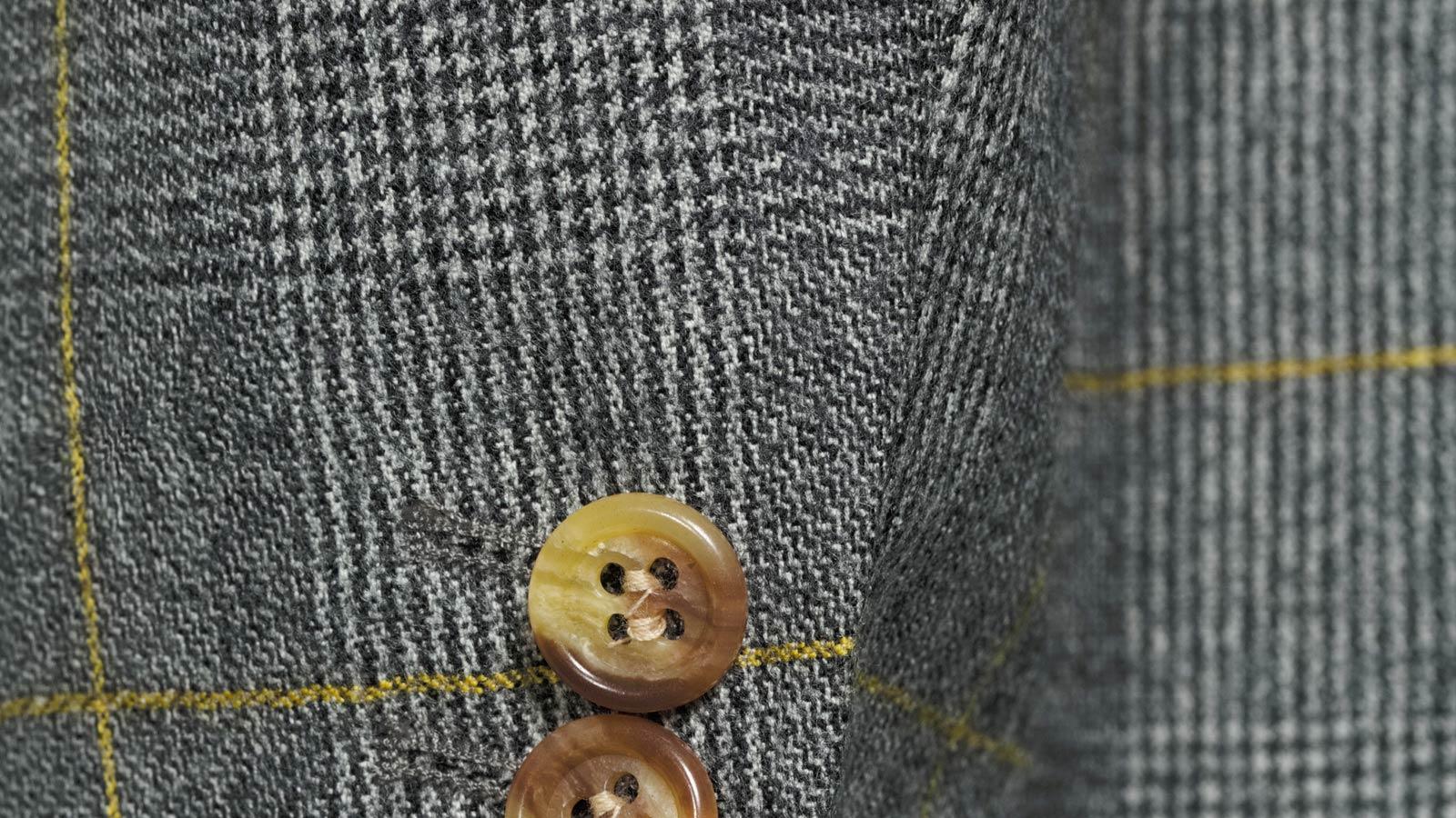 Grey Plaid With Yellow Overcheck Blazer - slider image