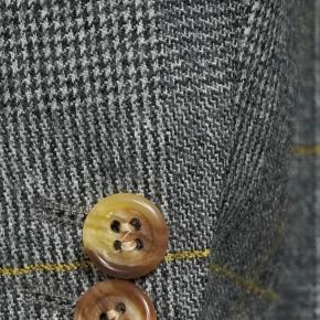 Grey Plaid With Yellow Overcheck Blazer - thumbnail image 1