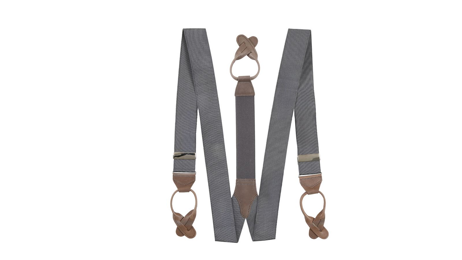 Dark Grey Suspenders - slider image