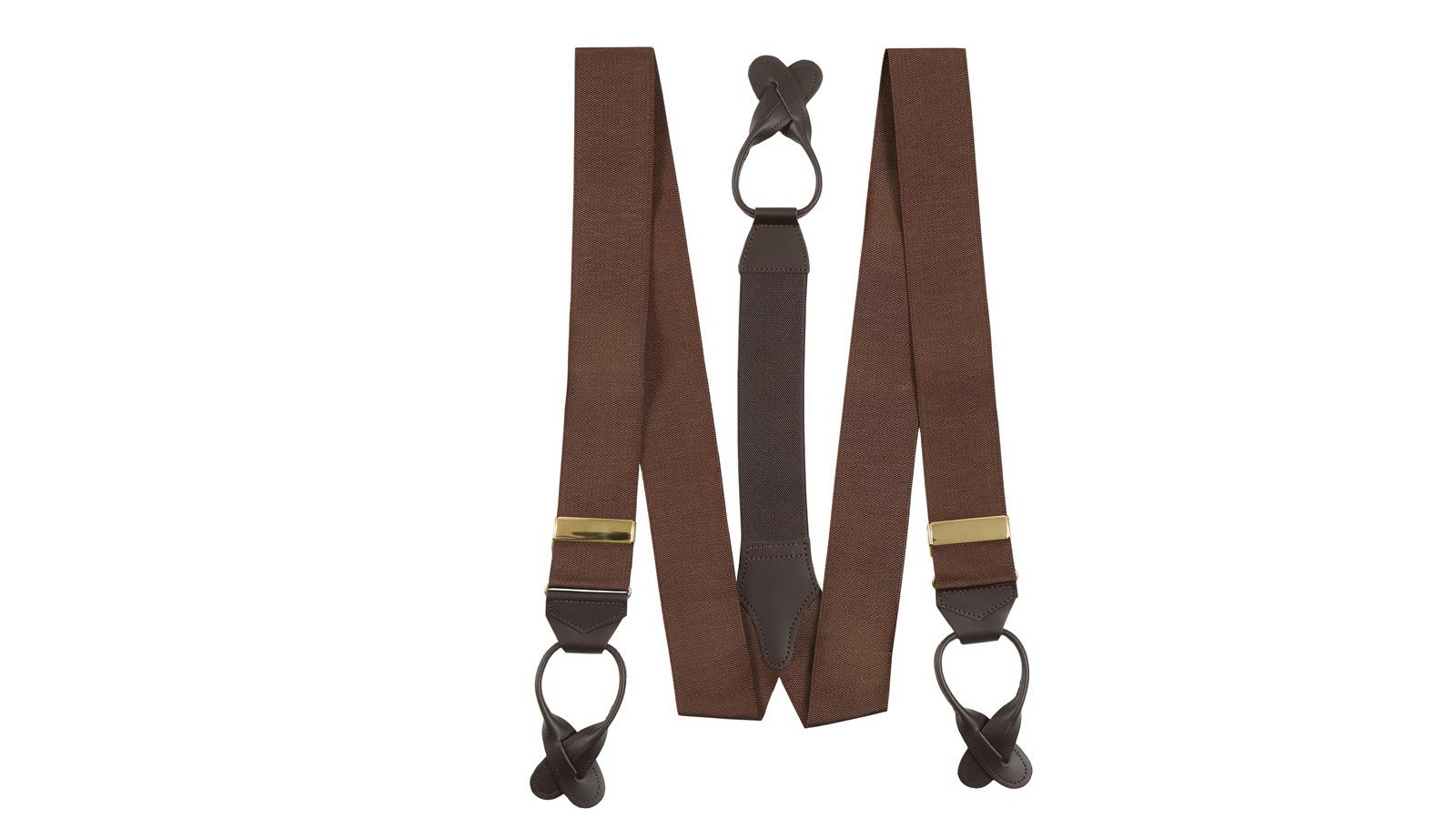 Coffee Brown Suspenders - slider image