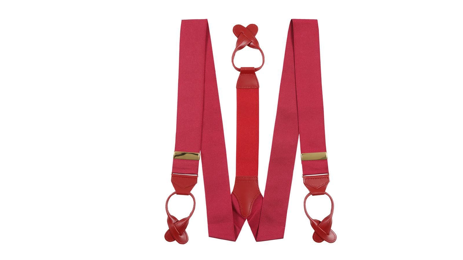 Wine Red Suspenders - slider image