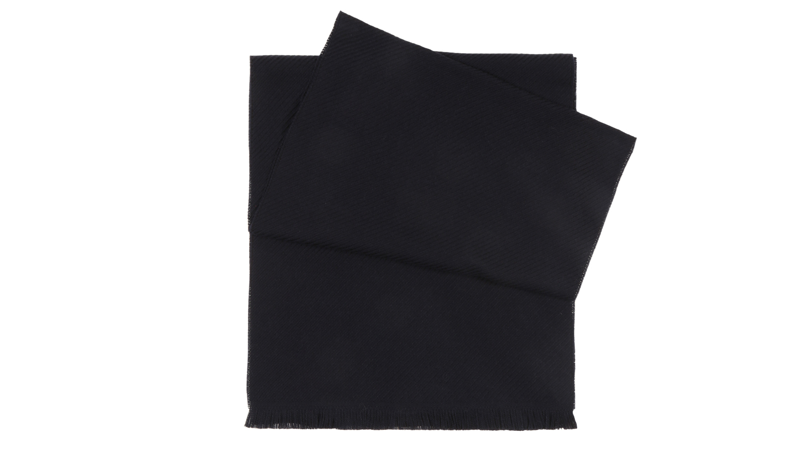 Solid Navy Wool Scarf  - slider image