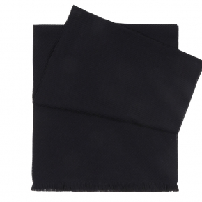 Solid Navy Wool Scarf  - thumbnail image 1