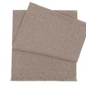 Solid Beige Wool Scarf  - thumbnail image 1