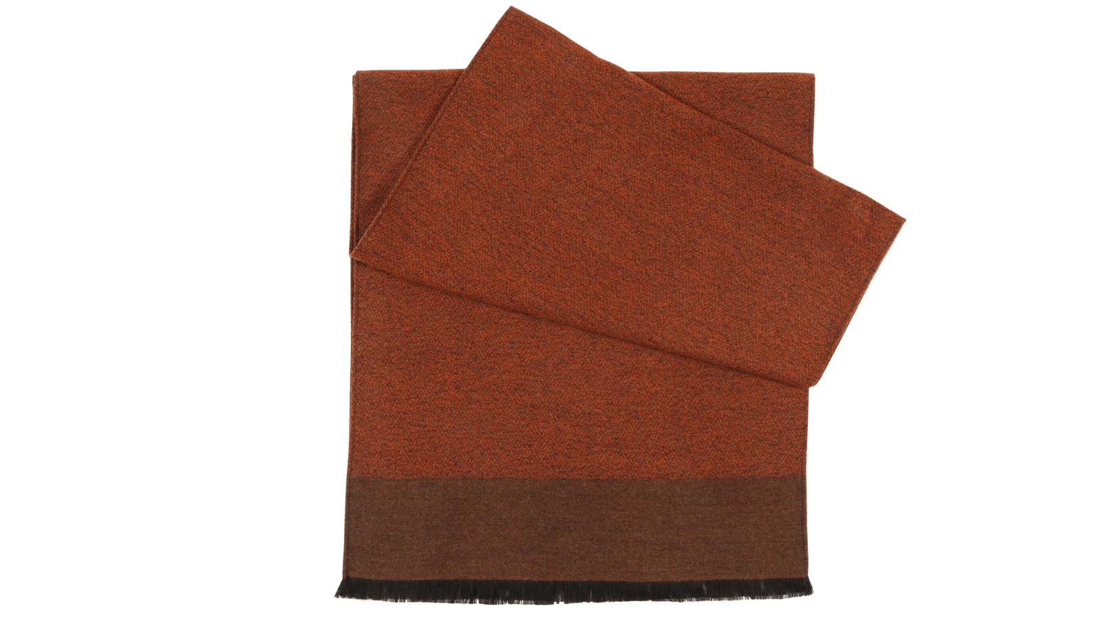 Copper Wool & Silk scarf - slider image
