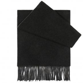 Grey Cashmere scarf - thumbnail image 2