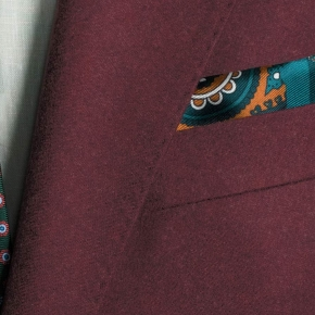 Burgundy Wool Flannel Suit - thumbnail image 2
