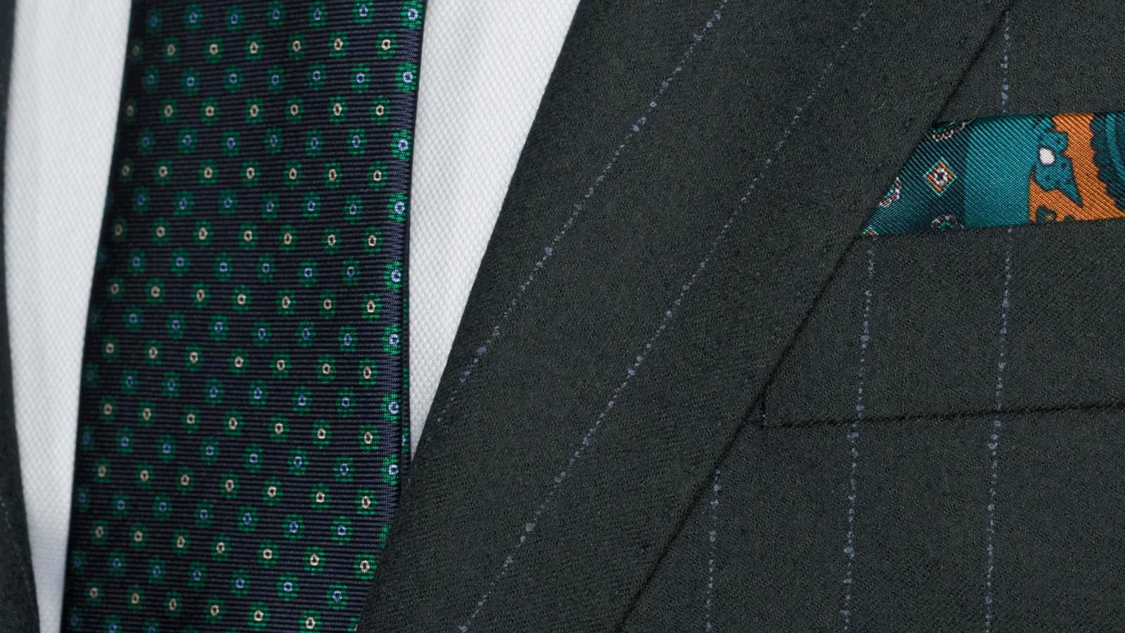Blue Stripe Green Suit - slider image 1